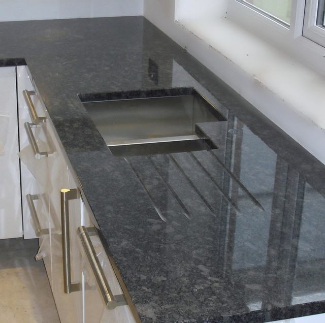 Grey Kitchen Marble Worktop: Steel Grey Granite Worktops