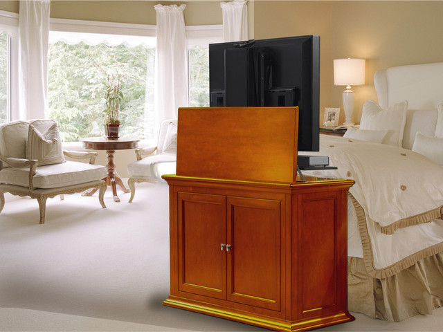 """Highland TV Lift Cabinet For Flat Screen TV's Up To 46"""" traditional-home-electronics"""