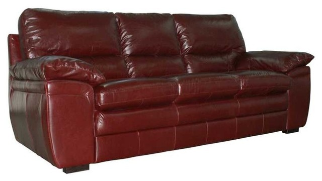 Luke Leather Wil In Italian Burgundy Leather Furniture 3 Piece Sofa Set Wil Traditional