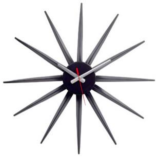 Starflash Wall Clock in Black Silver Red modern-clocks