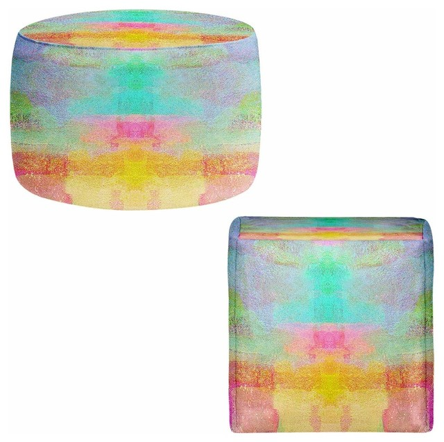 Ottoman Foot Stool - Pastel Fields contemporary-footstools-and-ottomans