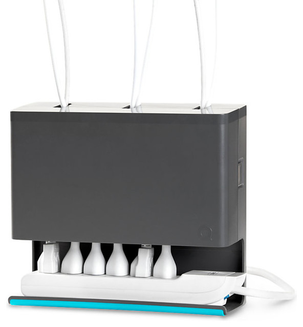 Plug hub contemporary cable management - Under desk cord organizer ...