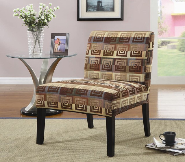 Square Spiral Patterned Accent Chair Modern Armchairs And Accent Chairs