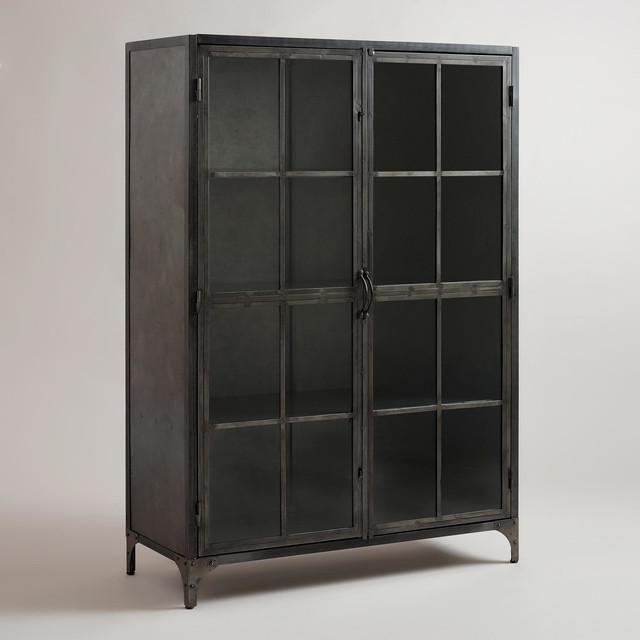 Metal Display Cabinet - Industrial - Storage Units And Cabinets - by Cost Plus World Market