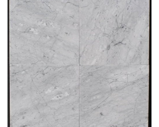 """Carrara White Marble Polished Tiles - 16"""" x 16"""" Full solid Italian Carrara White Polished Marble Tiles. Sold by Piece"""