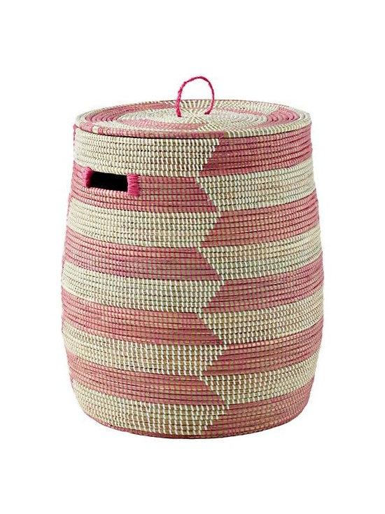 Charming Hamper, Pink Herringbone -