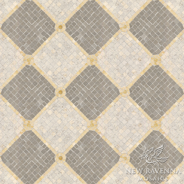 Constellation Stone Mosaic traditional-wall-and-floor-tile
