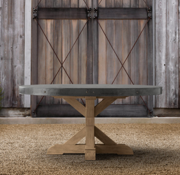 Concrete Round Dining Table eclectic-outdoor-tables