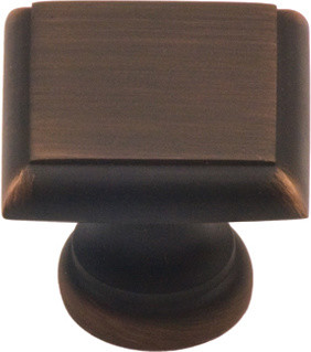 148-VB Venetian bronze square cabinet knob - Traditional - Cabinet And Drawer Knobs ...