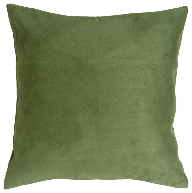 Decorative Pillows For Bed Green : Pillow Decor - 18 x 18 Royal Suede Forest Green Throw Pillow - Contemporary - Decorative Pillows ...