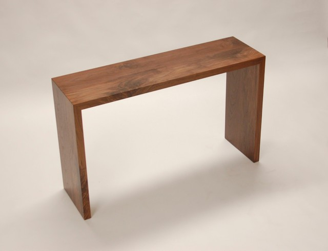 Walnut Console Table Contemporary Buffets And Sideboards Other