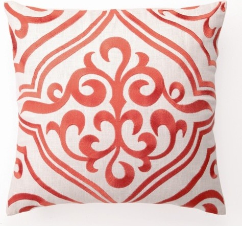 Tile Down-Filled Embroidered Pillow modern-decorative-pillows