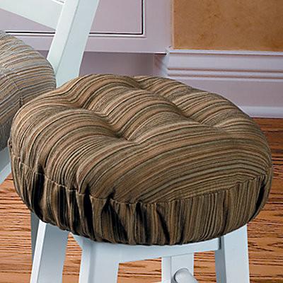 Harmony Stripe Tufted Bar Stool Cushion contemporary-decorative-pillows
