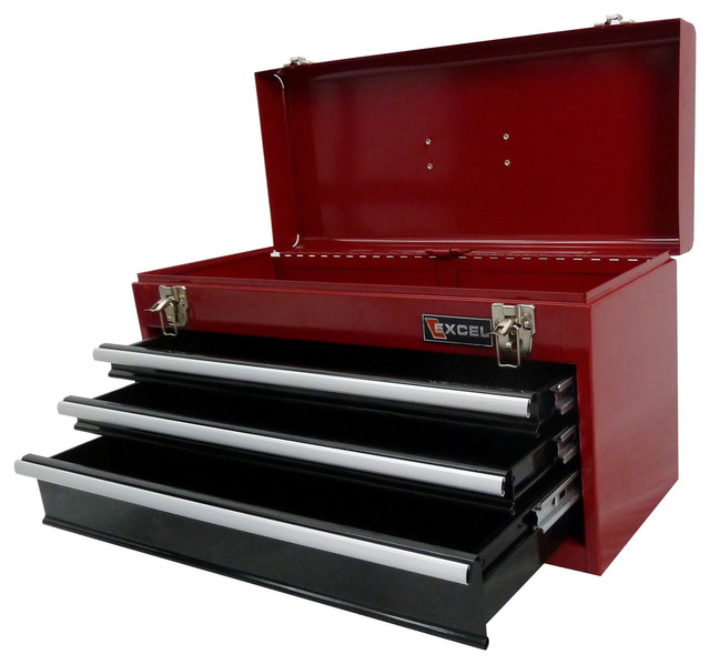 Excel 21-Inch Portable Steel Tool Box - Contemporary - Garage And Tool Storage - by Overstock.com