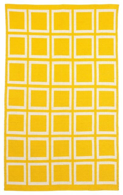 Sunny - Mimosa & Bright White (8' x 10') contemporary-rugs