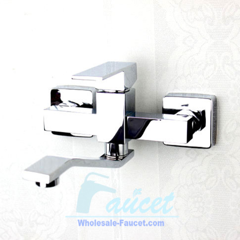 Wall Mount Two Handle Bathroom Faucet Contemporary Bathroom Faucets And S