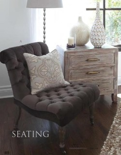 Velvet Grey Tufted Side Chair - Eclectic - Armchairs And Accent Chairs - phoenix - by Enhancing ...