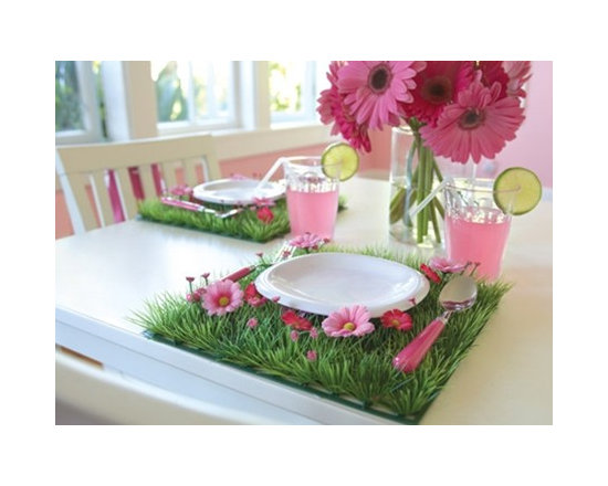 Grass Mat with Daisy Flowers Placemat -