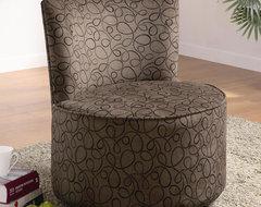 Elegant Round Swivel Chair modern-living-room-chairs