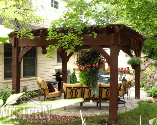 Entertainment Size Pergolas - Western Timber Frame freestanding