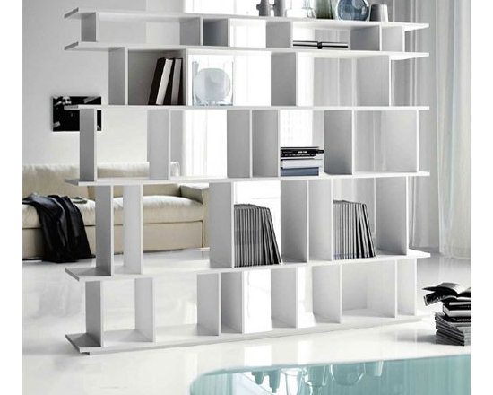 Cattelan Italia - Cattelan Italia | Loft Bookcase - Made in Italy by Cattelan Italia.Simple and elegant, the modern Loft Bookcase is an artistic approach to the traditional bookshelf. Your books deserve the best treatment, and with this highly sophisticated and modern piece you are sure to display your books with pride. Crafted from MDF, it will last for generations to come. Available in a variety of size and color combinations, this modern bookshelf is sure to be the optimal addition to your study or modern living space. Five spacious shelves store and display all your books and accent objects with unquestioned modern flair.