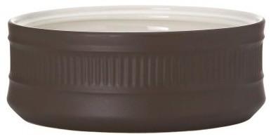 Dansk Flamestone Brown Open Vegetable Bowl modern-serving-utensils