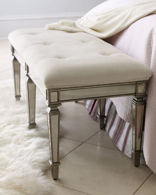 """Denison"" Mirrored Bench traditional-indoor-benches"