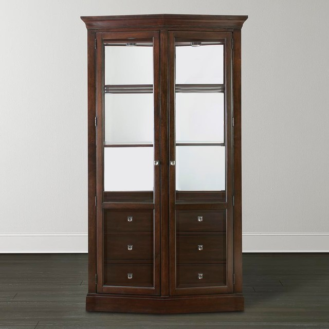 Cosmopolitan China Cabinet by Bassett Furniture - Contemporary - China Cabinets And Hutches ...