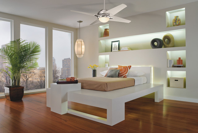 Ceiling Fans - Modern - Flush-mount Ceiling Lighting - cleveland - by Kichler