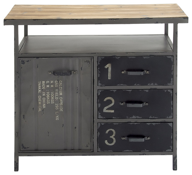 Multipurpose Metal Wood Utility Cabinet - Industrial - Accent Chests And Cabinets - by Wildorchid