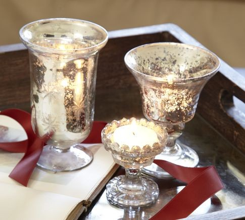 Mercury Glass Votive Cups traditional-candles-and-candle-holders