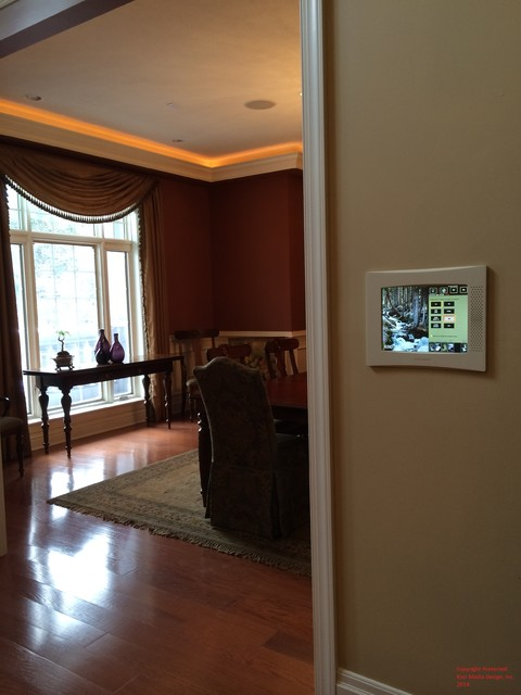 Custom Residential Audio Video Automation Design traditional-entry