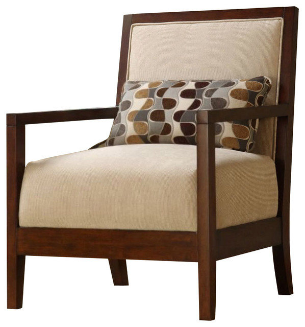 Homelegance Dalton Upholstered Microfiber Chair With Show