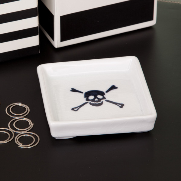 Skull Crossbones Tray contemporary desk accessories