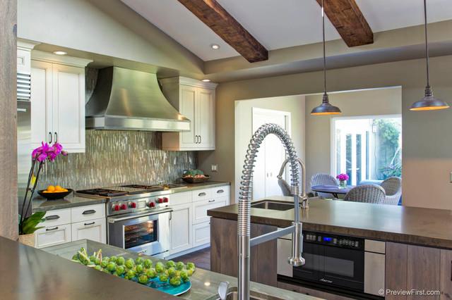 Textural Transformation contemporary-kitchen