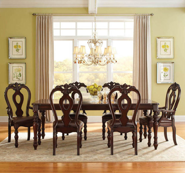 standard furniture westchester 7 piece dining room set in