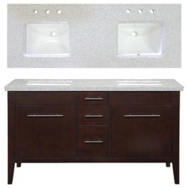 allen + roth Newfield 60-in x 22-in Espresso Double Sink Bathroom