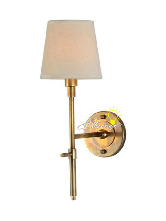 Antique Simple Fabric and Copper Wall Sconce 006 - Antique Simple Fabric and Copper Wall Sconce 006