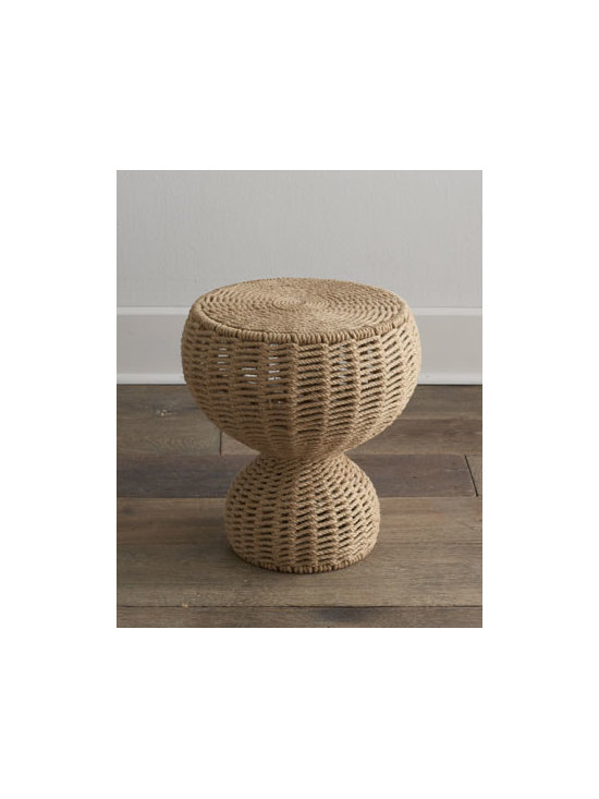"""Horchow - Mozelle Rope Table - Add an organic vibe to your decor with this side table that has a shape as unique as the material it is made from. Handcrafted of iron framework and handwoven natural jute braided rope. 16.5""""Dia. x 19""""T. Imported. Boxed weight, approximately 35 lbs..."""