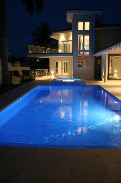Glass Tile Pool Amp Spa Modern Miami By Foreverpools