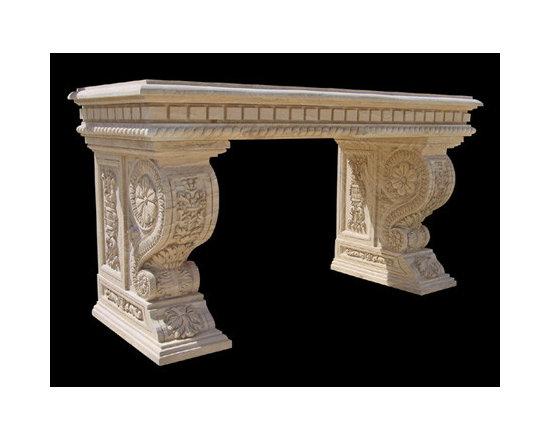 BLOSS STONEWORKS CO. - Elegantly Carved, Highly Ornate Entry or Hall Table.............BLOSS STONEWORKS CO.