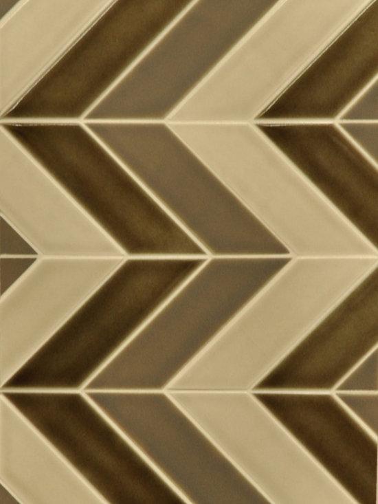 Vignette - Chevron Pattern in mixed color pallette
