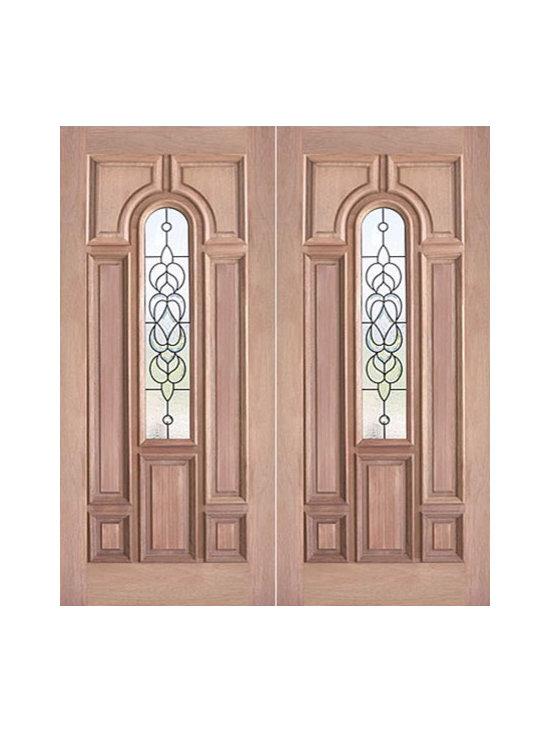 """Decorative Center Arch Lite, Prehung Mahogany Double Entry Door, 72x80 - SKU#PL-58_2BrandAAWDoor TypeExteriorManufacturer CollectionBudget DoorsDoor ModelDoor MaterialWoodgrainVeneerPrice1740Door Size Options2(36"""") x 80"""" (6'-0"""" x 6'-8"""")  $0Core TypeDoor StyleDoor Lite StyleCenter Arch LiteDoor Panel Style7 Panel , Raised MouldingHome Style MatchingBay and Gable , Bungalow , Elizabethan , Plantation , VictorianDoor ConstructionEngineered Stiles and RailsPrehanging OptionsPrehungPrehung ConfigurationDouble DoorDoor Thickness (Inches)1.75Glass Thickness (Inches)3/4Glass TypeTriple GlazedGlass CamingBrass , BlackGlass FeaturesTempered , InsulatedGlass StyleGlass TextureGlass ObscurityDoor FeaturesDoor ApprovalsDoor FinishesDoor AccessoriesWeight (lbs)850Crating Size25"""" (w)x 108"""" (l)x 52"""" (h)Lead TimeSlab Doors: 7 daysPrehung:14 daysPrefinished, PreHung:21 daysWarranty"""