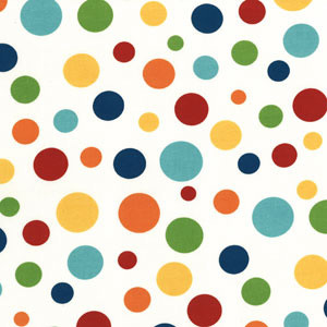 Retro Polka Dot Fabric traditional-fabric