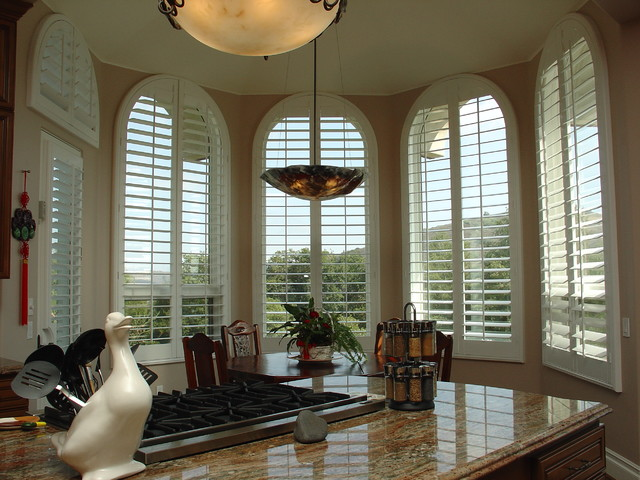 Kitchen Shutters traditional-window-treatments
