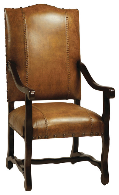 Barcelona Arm Chair Antique Brown Traditional Dining Chairs By