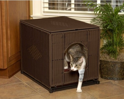 Decorative Litter Box Cover modern-pet-supplies