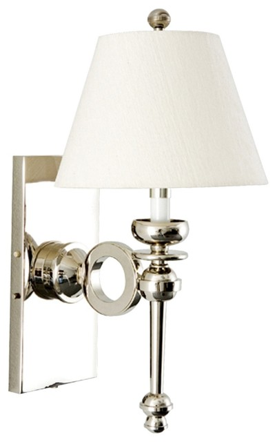 Wall Sconces Plug In : Frederick Cooper Moderne Nickel 17 1/2
