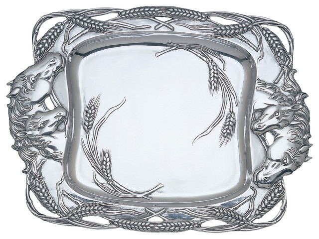 Horse Clutch Tray traditional-platters