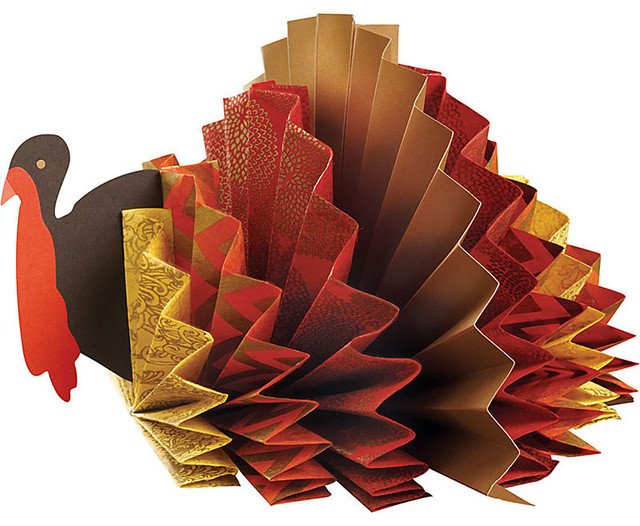 Turkey Rosette Centerpiece Kit Contemporary Holiday